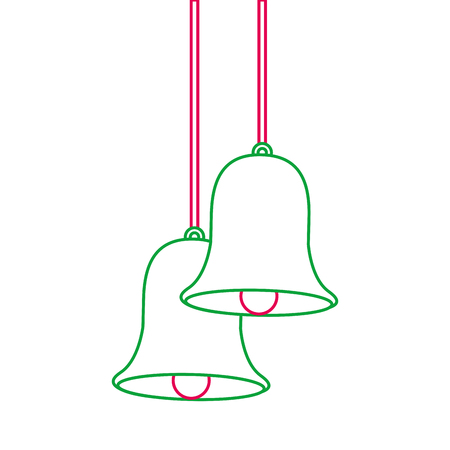 Christmas bells hanging decoration.