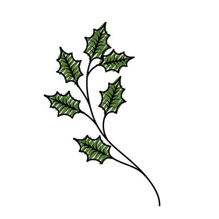 Tannennaturdekoration der Weihnachtsbaumaste gezierte. Standard-Bild - 89701129