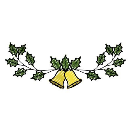 coniferous: Christmas bells hanging decoration.