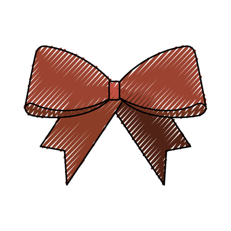 Christmas bow decoration ornament design vector illustration