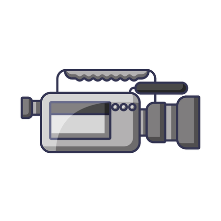 Video camera microphone gadget professional equipment vector illustration Illustration