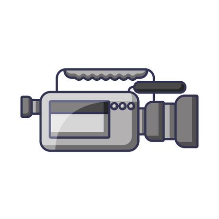 Video camera microphone gadget professional equipment vector illustration Illusztráció