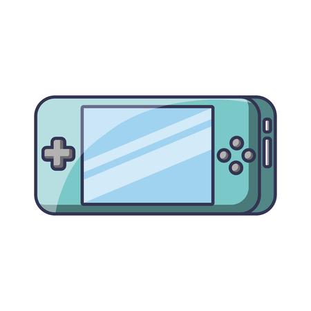 ポータブルビデオゲームコンソールガジェット技術ベクトルイラスト