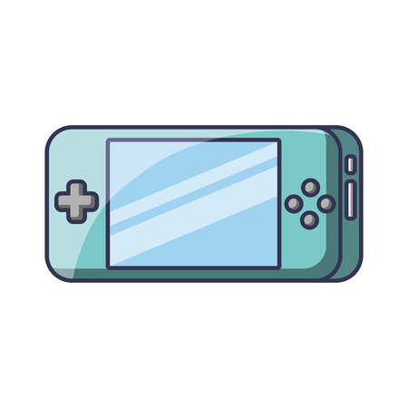 Portable video game console gadget technology vector illustration
