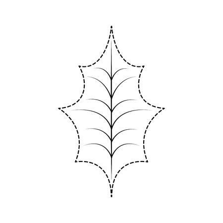 Natürliche vektorabbildung der Weihnachtsdekorationsblattstechpalme Standard-Bild - 89699851