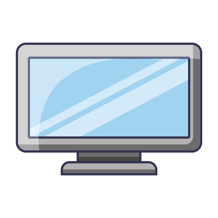 monitor display of computer gadget wireless technology vector illustration