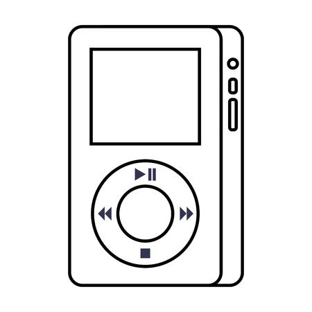 mp player device for listening to music vector illustration Illusztráció