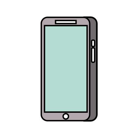 Modern touchscreen gadget with empty screen vector illustration