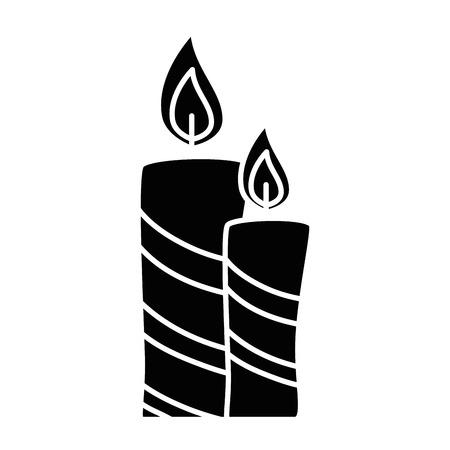 Velas de Natal ícone decorativo Ilustração vetorial design Foto de archivo - 89817155