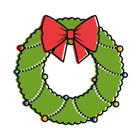 末梢装飾的なベクトル イラスト デザインとクリスマス クラウン