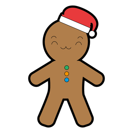 ginger bread  character vector illustration design Illustration