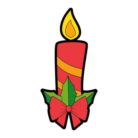 Diseño de ilustración de vector de icono decorativo de velas de Navidad Foto de archivo - 89817224