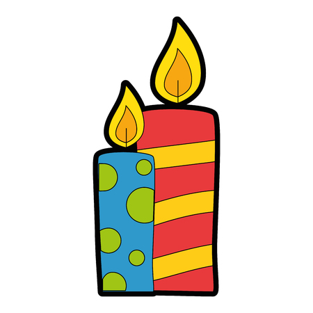 Diseño de ilustración de vector de icono decorativo de velas de Navidad Foto de archivo - 89817283