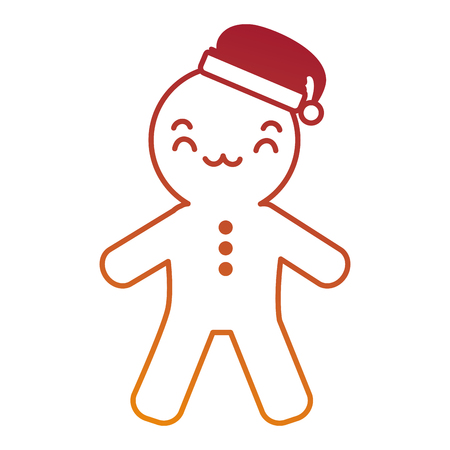 ginger bread kawaii character vector illustration design