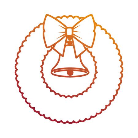 ベル装飾ベクターイラストデザインとクリスマスの王冠  イラスト・ベクター素材