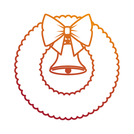 christmas crown with bell decorative vector illustration design Stock Vector - 89817304