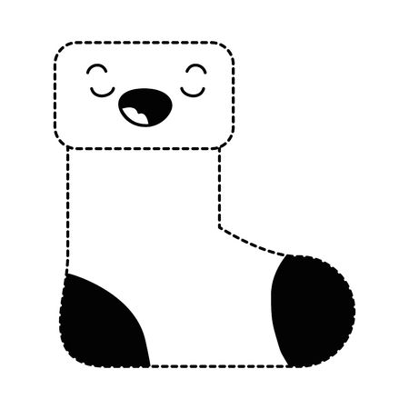 christmas sock  character vector illustration design