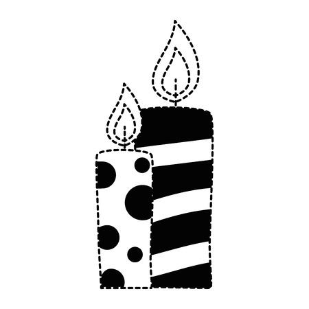 christmas candles decorative icon vector illustration design Illusztráció