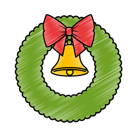 クリスマス ベル装飾的なベクトル イラスト デザインのクラウン