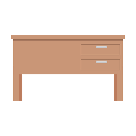 teacher desk isolated icon vector illustration design