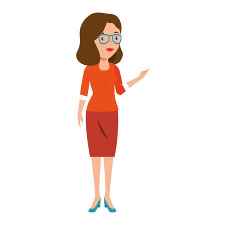 beautiful teacher female avatar character vector illustration design