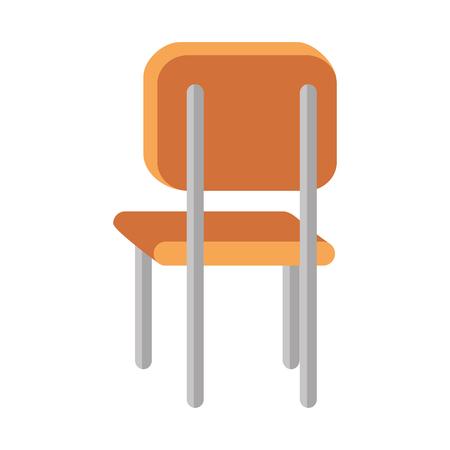 school chair isolated icon vector illustration design