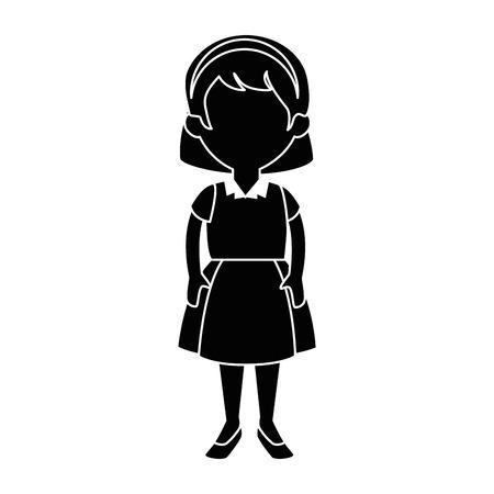 little girl student with uniform character vector illustration design Ilustracja