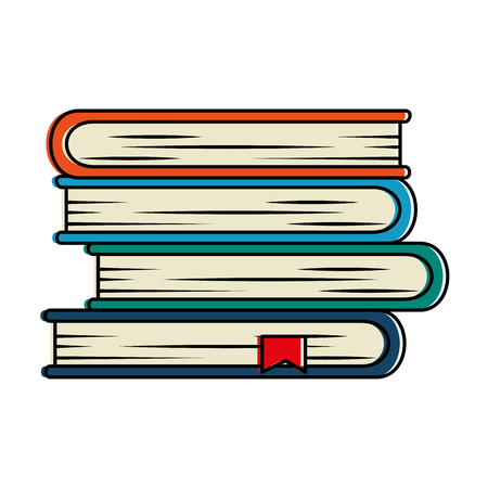 pile text books isolated icon vector illustration design Illustration