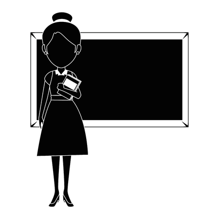beautiful teacher female with chalkboard avatar character vector illustration design Reklamní fotografie - 89816527