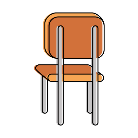 school chair isolated icon vector illustration design