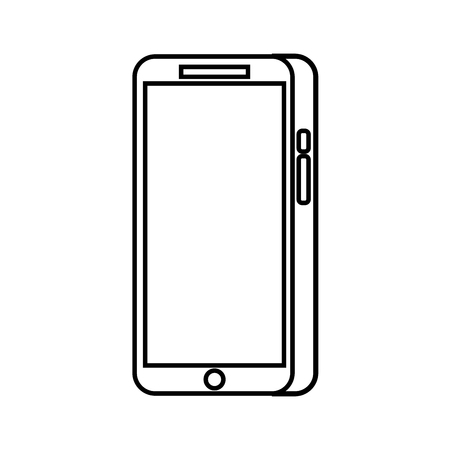 modern touchscreen gadget smartphone empty screen vector illustration