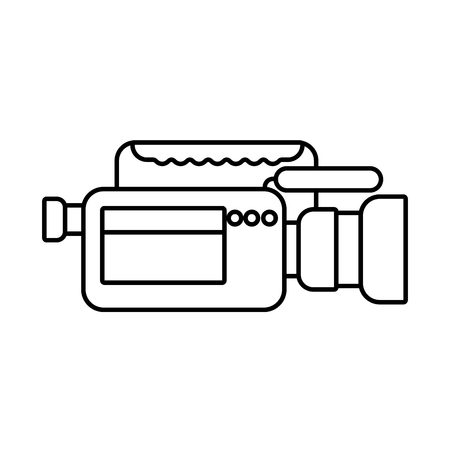 video camera microphone gadget professional equipment vector illustration