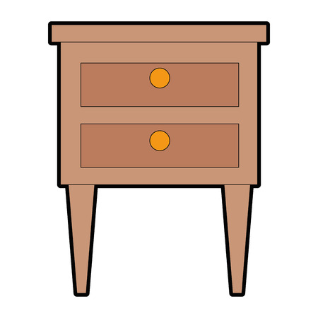 Drawer wooden isolated icon vector illustration design Ilustracja