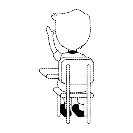 little student in school chair vector illustration design Illustration