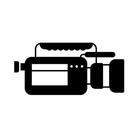 video camera microphone gadget professional equipment vector illustration