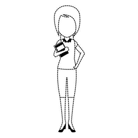 smart girl: beautiful teacher female with books avatar character vector illustration design Illustration