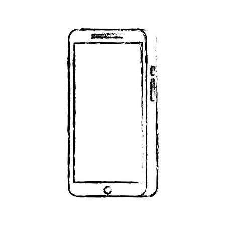 modern touchscreen gadget smartphone empty screen vector illustration Stock fotó - 89842456