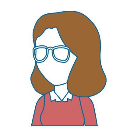beautiful teacher female avatar character vector illustration design