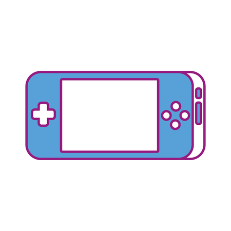 portable video game console gadget technology vector illustration 向量圖像