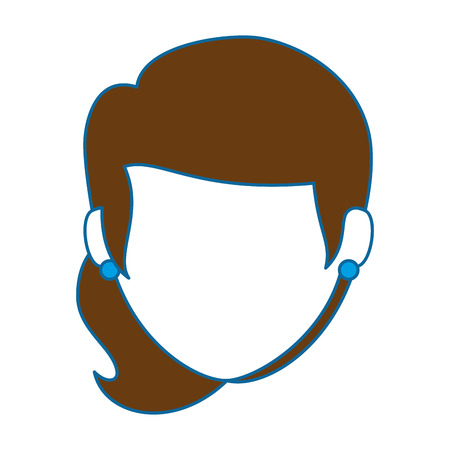 beautiful woman head avatar character vector illustration design Stok Fotoğraf - 89847267
