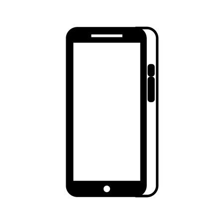 modern touchscreen gadget smartphone empty screen vector illustration Stock fotó - 89847338