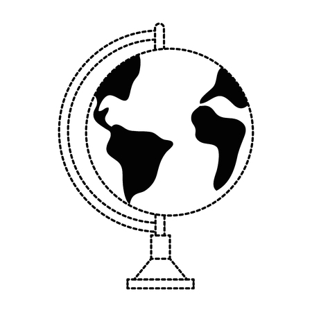 flat earth: world planet earth icon vector illustration design