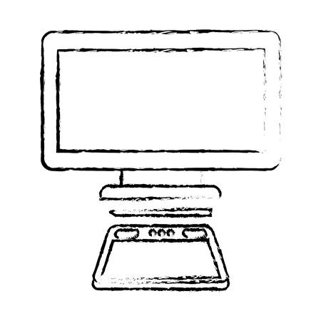 graphic tablet computer gadget designer tool vector illustration Illustration