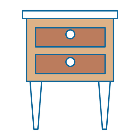 drawer wooden isolated icon vector illustration design