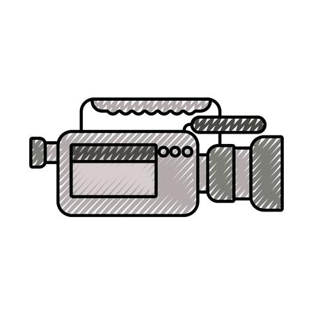 videocamera microfoon gadget professionele apparatuur vectorillustratie Stock Illustratie