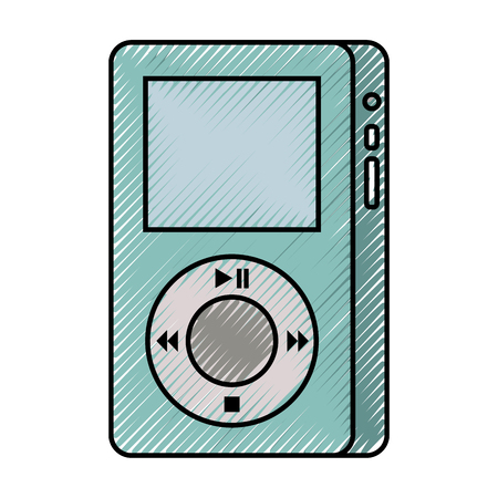 mp3 player device for listening to music vector illustration Illustration