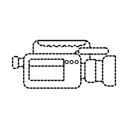 비디오 카메라 마이크 가제트 전문 장비 벡터 일러스트 레이션