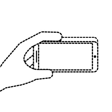 携帯電話ガジェット デジタル ベクトル図を持っている手  イラスト・ベクター素材
