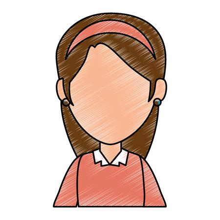 glamorous: beautiful woman avatar character vector illustration design
