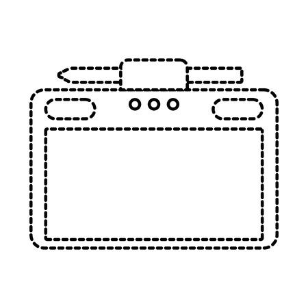graphic tablet with pen digital work equipment gadget digital vector illustration Stock Vector - 89850521